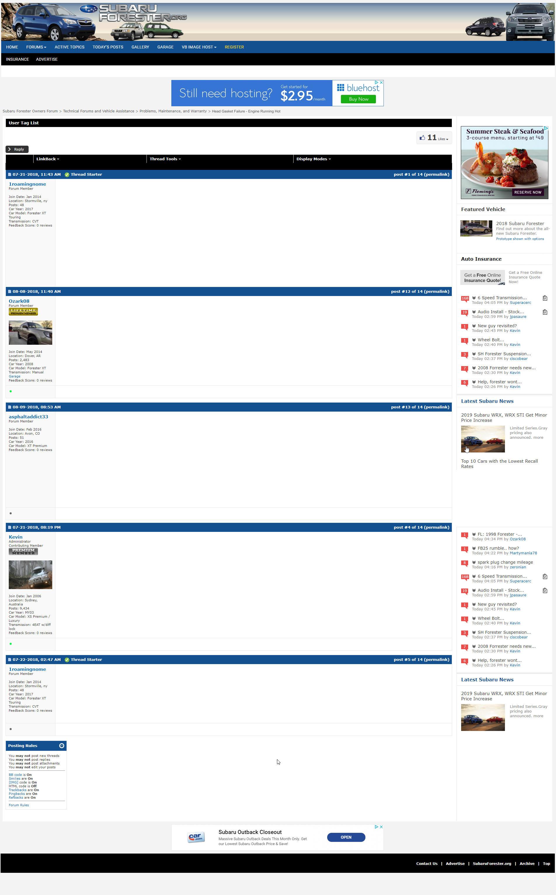 Subaru Forester Head Gasket Sealer Review
